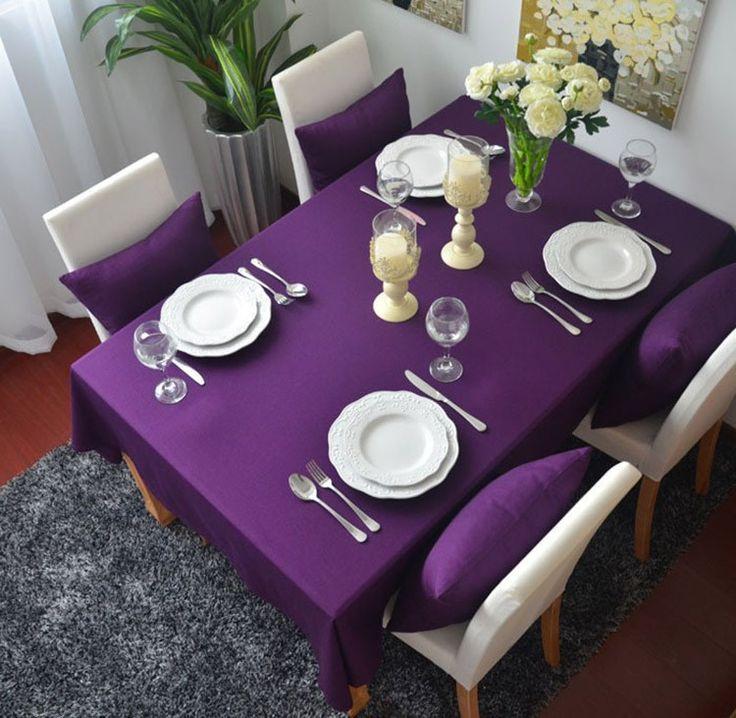 Die besten 25+ lila Tischdecke Ideen auf Pinterest Lila tisch - servietten falten tischdeko esszimmer