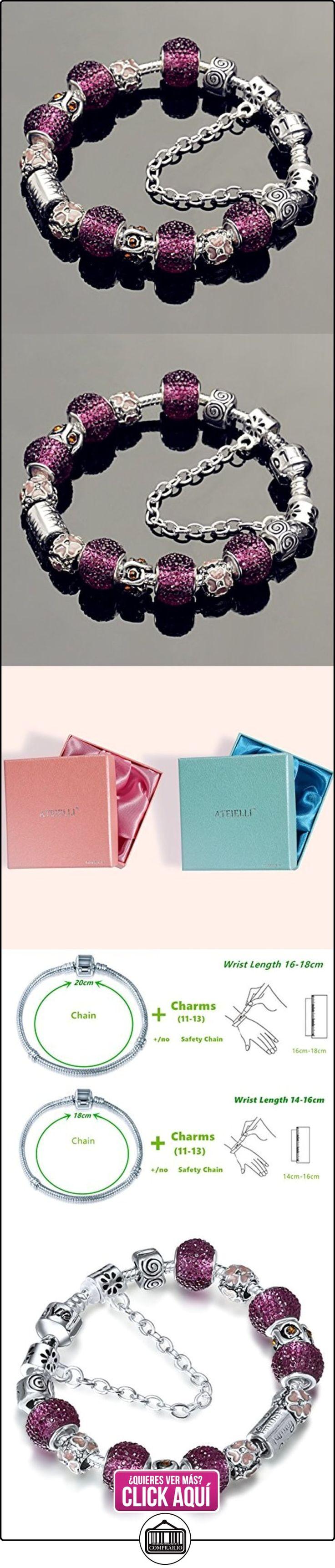 A TE® Charm Pulsera Violeta Cristal Mujer con Letras Familia Cadena de Seguridad Regalo #JW-B22  ✿ Joyas para mujer - Las mejores ofertas ✿ ▬► Ver oferta: https://comprar.io/goto/B00T33TAJ2