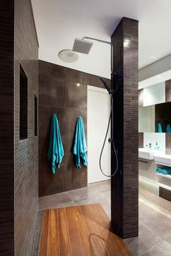 Turquoise And Brown Bathroom Design Ideas, Pictures, Remodel and Decor