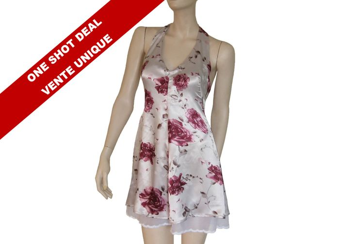 Vente 1 seul exemplaire, robe courte licou, robe d'été évasée, robe étagée, imprimée de fleurs, exclusivité. de la boutique atelierPATH sur Etsy