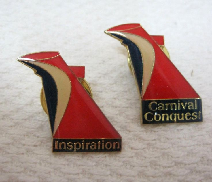 Fun Travel Souvenir Pin 2 Carnival Cruse Lines Colorful Great Shape! | eBay
