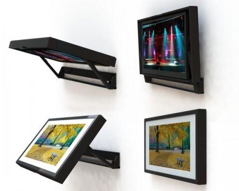 17 meilleures id es propos de fixation murale tv sur for Meuble tv escamotable motorise