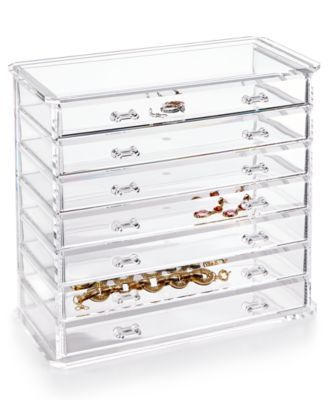 Honey Can Do Acrylic Emily Jewelry Chest | macys.com