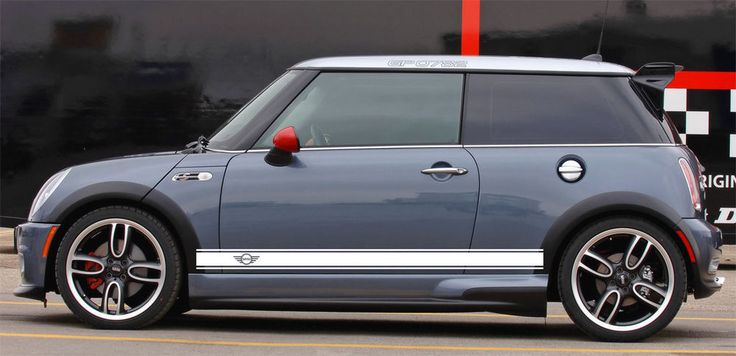 WINGS Mini Cooper S JCW Clubman Angled Side Door Racing Stripes Graphics #Oracal
