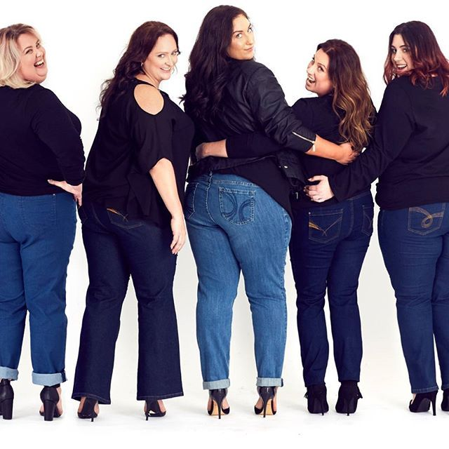 Team Curve - From Left - Helen, Amanda, Amy, Karlee and Carah. Autograph team members who love their curves, and love their denim