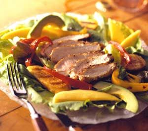 ... honey-lime dressing for this Southern-style, high-fiber salad recipe