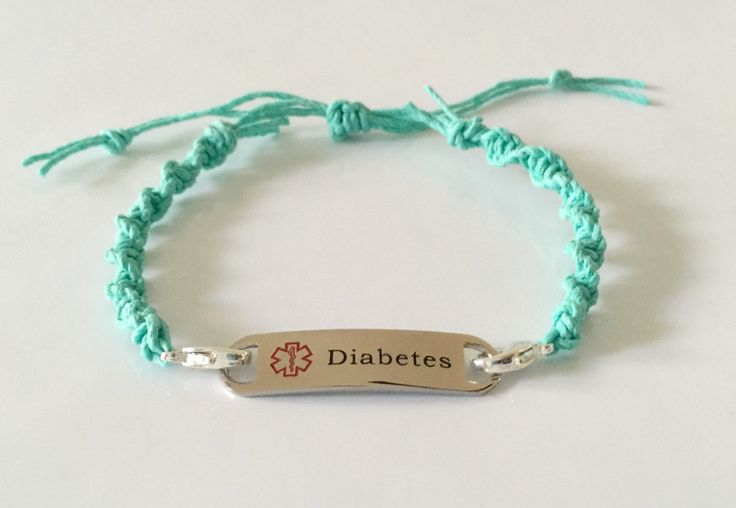 Pretty Spring Diabetes Medical Alert Bracelet Anklet