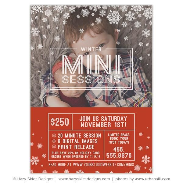 Holiday Mini Session Template | Winter Minis