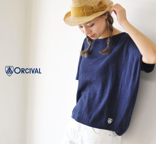 【楽天市場】Orcival オーシバル/オーチバル リネンニット ハーフスリーブ ワイドプルオーバー・rc-4140(全6色)(free)[fs04gm]:Crouka(クローカ)