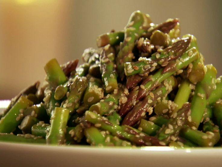 Asian Asparagus Spears with Sesame seeds- sesame oil, white wine vinegar, soy sauce, salt and sesame seeds