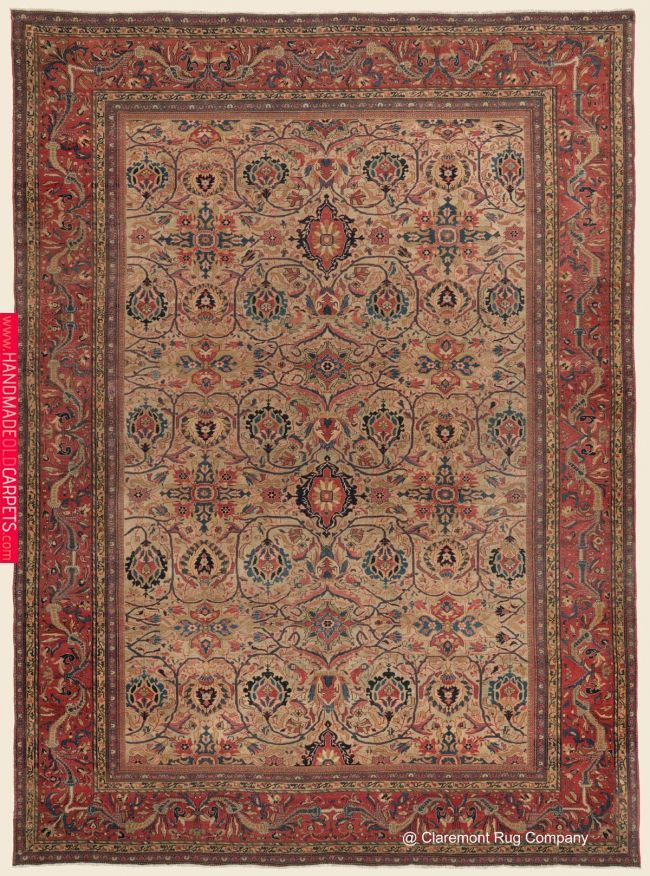 8 X 11 Persian Rug With Flower Design On It