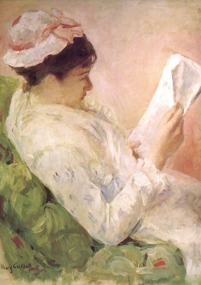 ✉ Biblio Beauties ✉ paintings of women reading letters & books - Mary Cassatt | Woman Reading