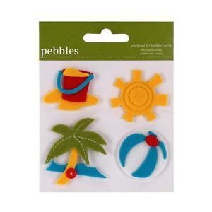 american crafts pebbles layered felt embellishments for cards sewi