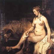 Bathsheba at Her Bath 1654 by Rembrandt Van Rijn