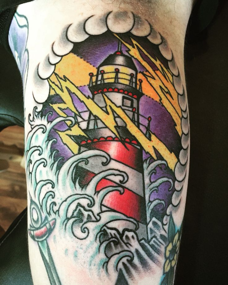 best 25 traditional lighthouse tattoo ideas on pinterest traditional nautical tattoo. Black Bedroom Furniture Sets. Home Design Ideas