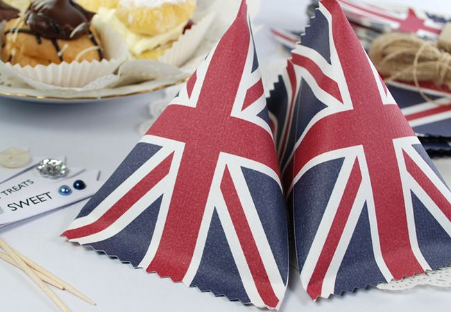 Free printable Sour Cream Gift Containers from the 'Best of British' Party Pack.
