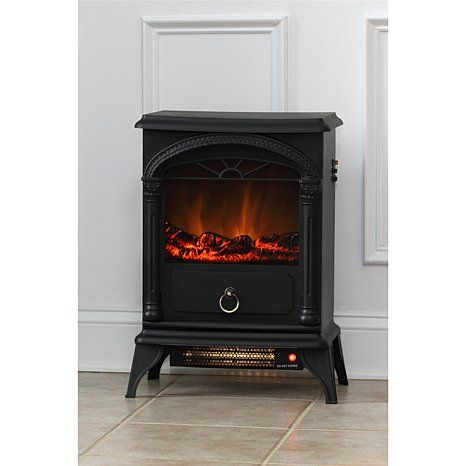 Well Traveled Living Vernon Electric Fireplace Stove at