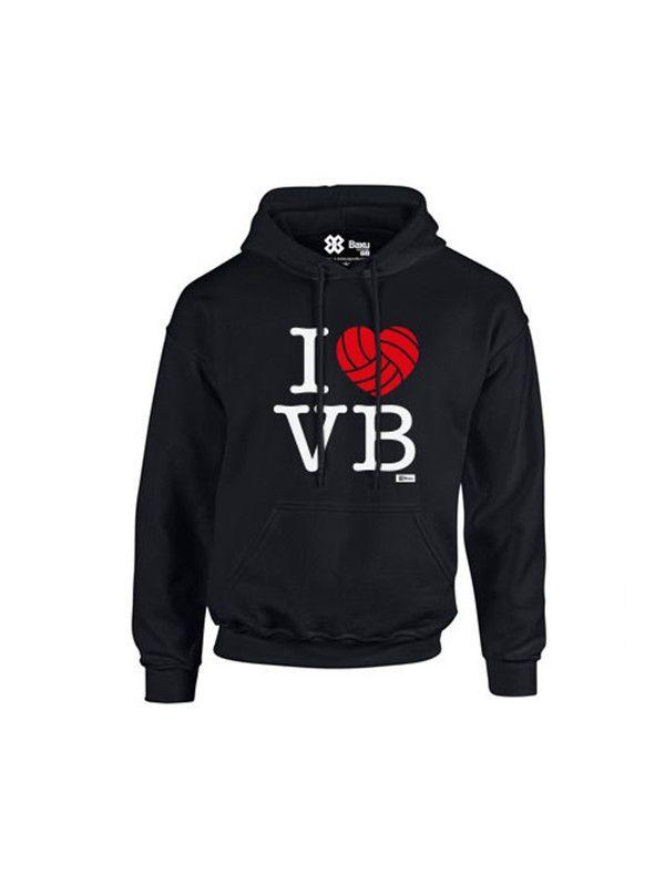 Sudadera I love Volleyball Negro #ILoveVolleyball #Voleiball #Voleibol #Baxu