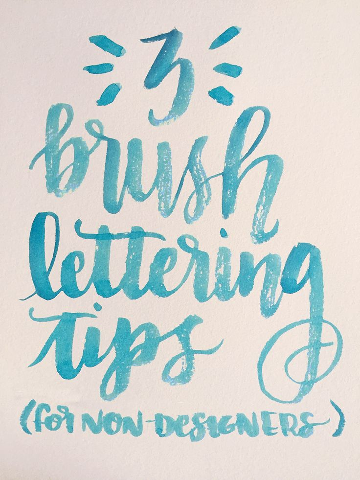 Want to get your start at brush lettering? We have 3 essential tips for beginners. Check out the brush lettering tutorial on the CreativeLive blog.