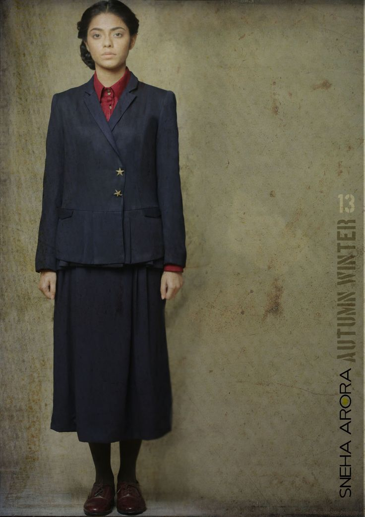 double breasted navy skirt suit