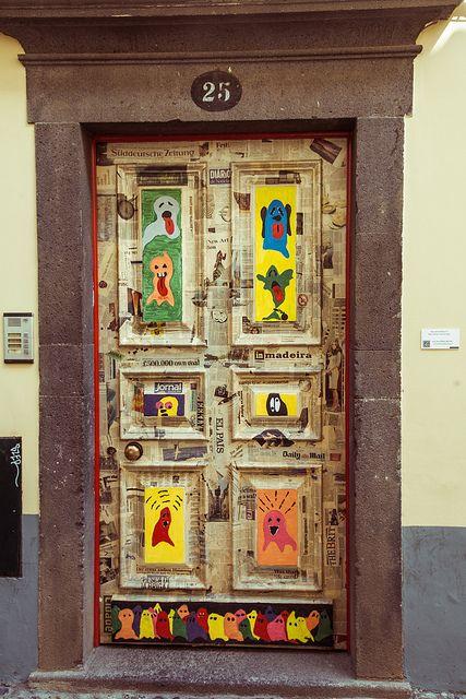 Rua de Santa Maria N. 25, via Flickr.: From Santa, Games Rooms, The Doors, Street, Portugal Timber, Street Art, Front Doors, Decor Doors, Santa Maria