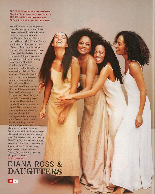 Life Magazine: May 1999 Diana Ross & Daughters