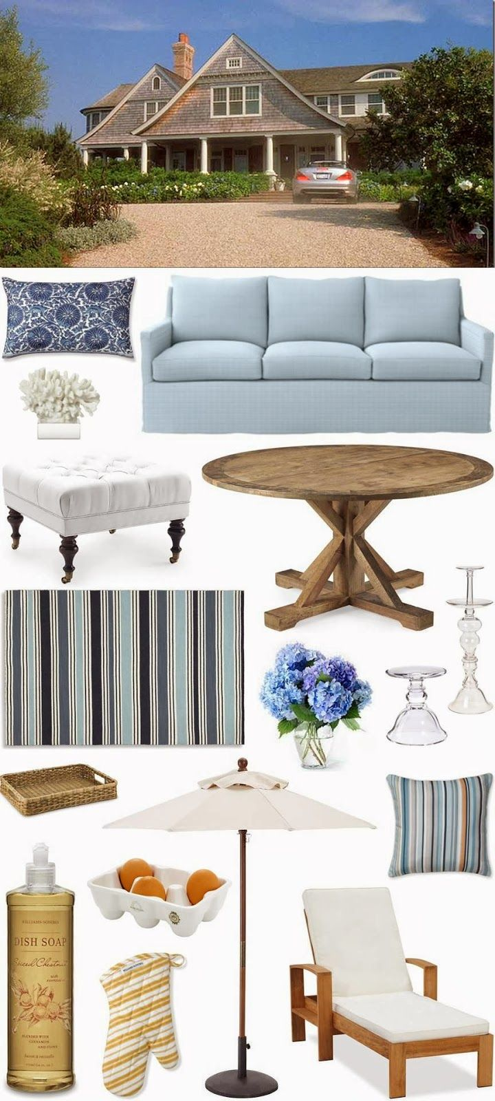 One Of My Favorite Beach House Get The Looks Hamptons Style DecorHamptons HouseHamptons HousesSomethings Gotta GiveHampton