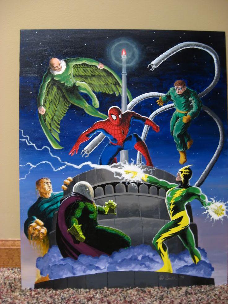 Spiderman painting for my nephew, Drew. 2008 I think.