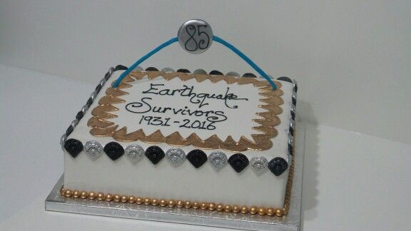 3/2/1931 85 years ago Napier/Hastings was in ruins, today gives me pleasure to be part of survivors celebration cake Hawke's Bay www.mjscakes.co.nz