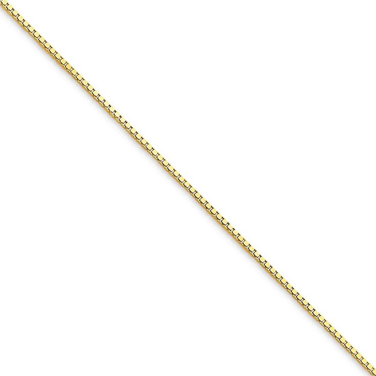 Roy Rose Jewelry 10K Yellow Gold .9mm Box Chain with Lobster Clasp 9' Inch Length Anklet Bracelet * Be sure to check out this awesome product. (This is an Amazon Affiliate link and I receive a commission for the sales)