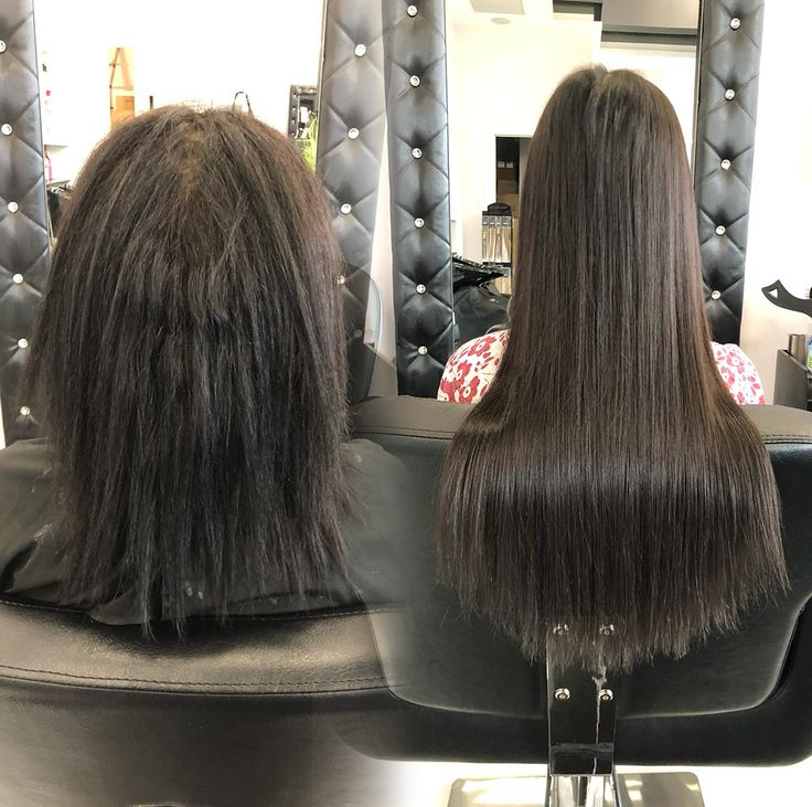 Before and After Hair Extensions, Toronto / Vaugha…