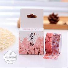 2 Adet/paket Taze Bahar Kiraz Blossoming Çiçek Washi Yapışkan Bant DIY Günlüğü Dekoratif Scrapbooking Sticker Etiket Maskeleme bandı(China (Mainland))