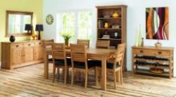 Provence Oak 6-8 Draw Ext. Table & 6 Slatted Chairs http://solidwoodfurniture.co/product-details-oak-furnitures-4023-provence-oak-draw-ext-table-slatted-chairs.html
