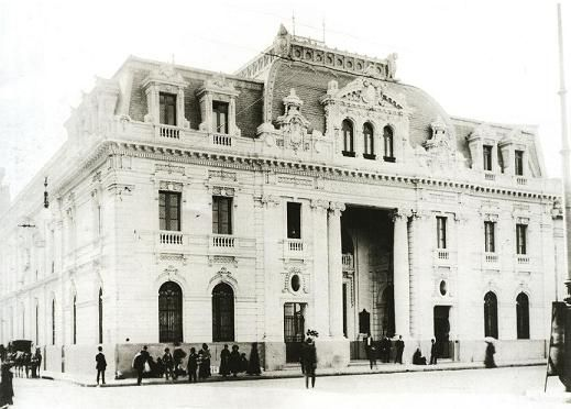 Catedral Edificio Correos de Chile en 1920