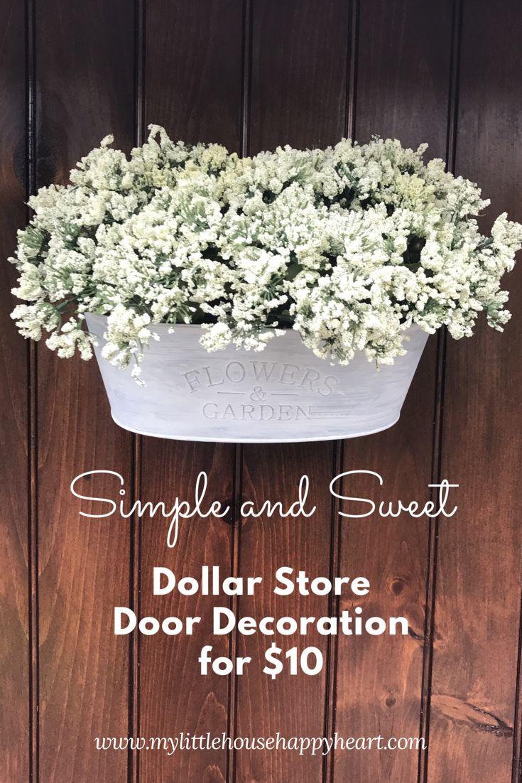 Dollar Store Door Decoration For Under Ten Dollars
