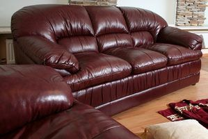 Keep your leather furniture clean and shiny with a homemade leather polish.
