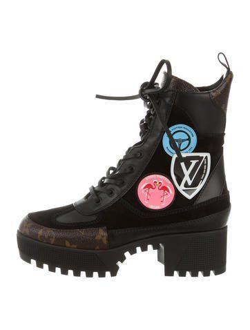 3a38c6f37a42 Louis Vuitton 2016 Checkpoint Platform Desert Ankle Boots
