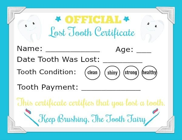 Printable Tooth Fairy Letter Tooth Fairy Letter Tooth Fairy Tooth Fairy Certificate