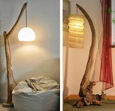 La Fabrique à Déco: DIY : idées déco avec des souches, des bûches ou du bois flotté