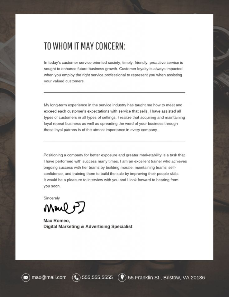 A cover letter template the five secrets that you shouldn