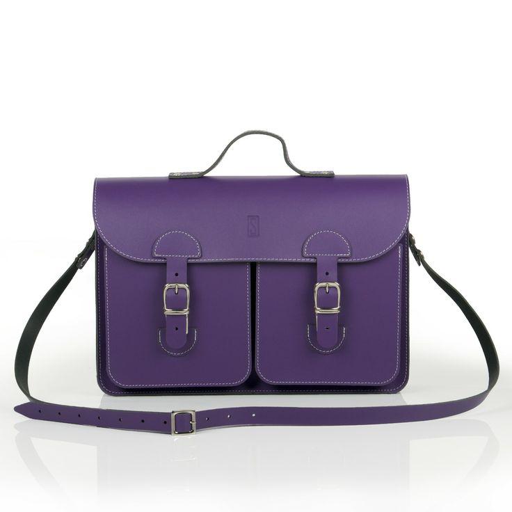 Oldschool Bags- Medium paars. Verkrijgbaar bij www.bornidentity.nl