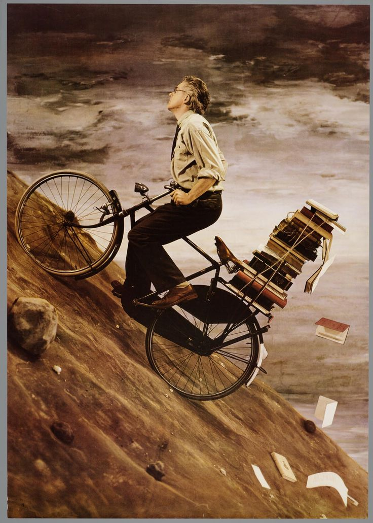 Dutch photographer and painter Teun Hocks: Books Fun, Vans Teun, Bike, Affich Vans, Extra Books, Riding Art, Teacher Design, Dutch Art, Teun Hocks2