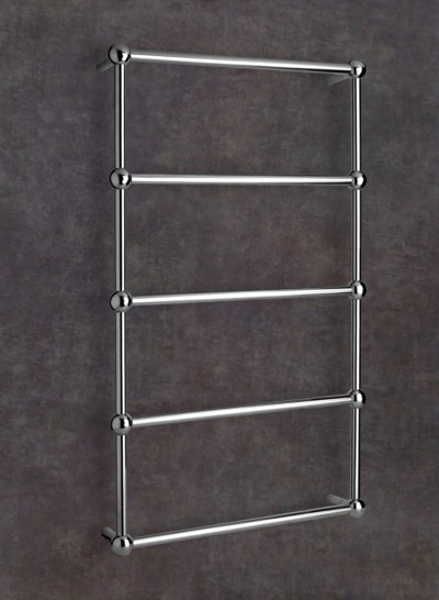 Heated towel rails wall mounted 5 bar heated towel rail - Heated towel racks for bathrooms ...
