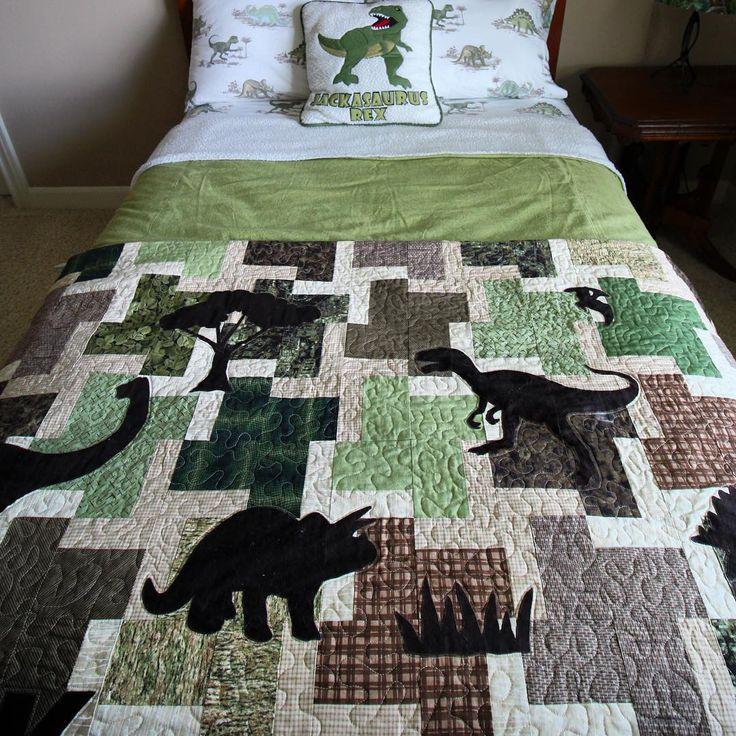 24 best Dinosaur images on Pinterest Dinosaurs, Quilt patterns - dinosaur bedroom ideas