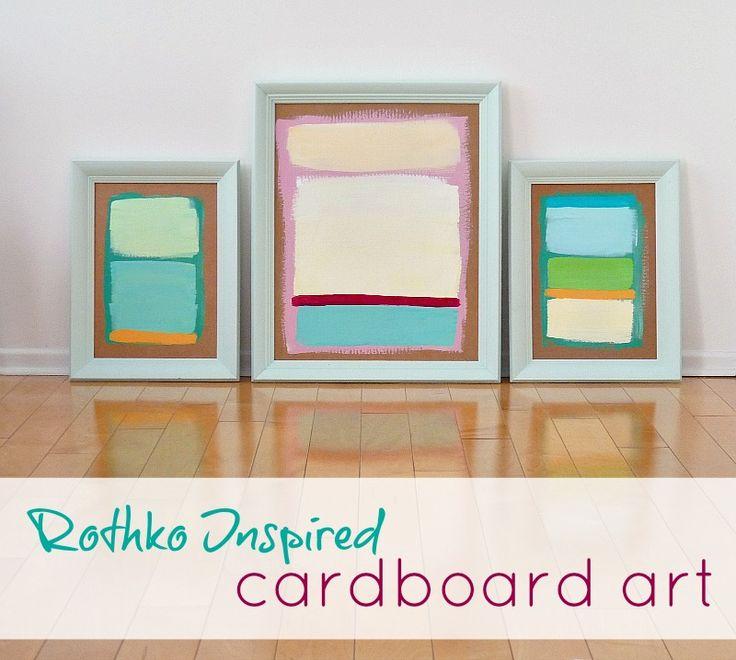 #diy #abstract #art on...#cardboard!
