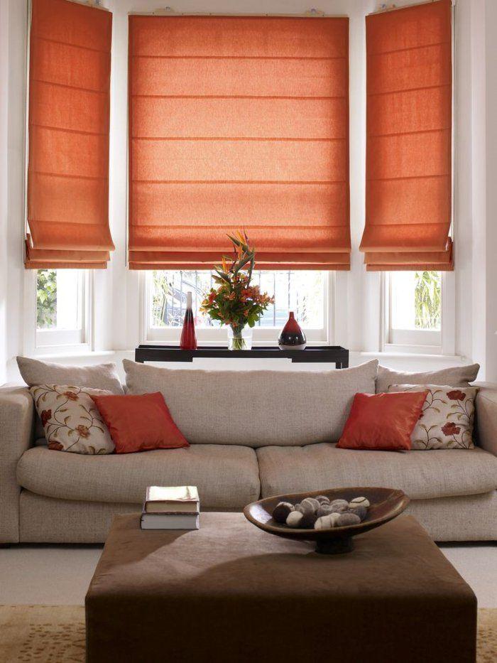 Schne Sofas Lawson Style Sofa Wohnzimmer Orange Akzente