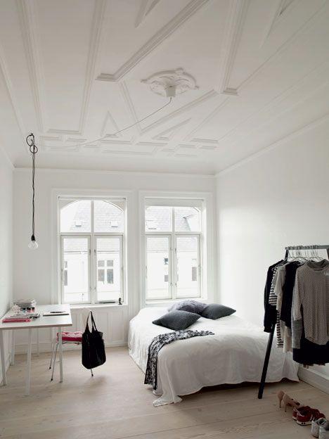soft minimalist bedroom The ceiling man!!!!! The windows! !!