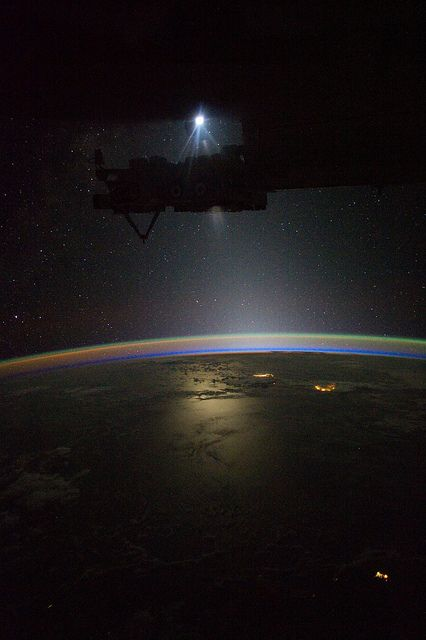 Night View from International Space Station.