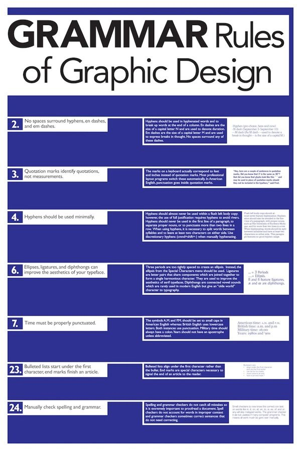 Rules of Graphic Design poster series by Jeremy Moran, via Behance