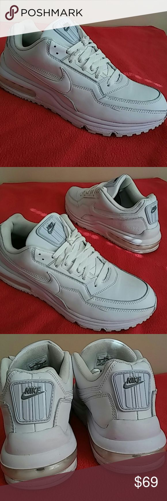Nike Air Max LTD ..Size 13 MEN Purchased this some 3 months ago for $102 and worn them between 8-11 times. Shoes is rated 9/10 as only undersoles shows signs of use. Shoes is stainless, no dirt or greasing. ..Clean and bright all white. Nike Shoes Sneakers